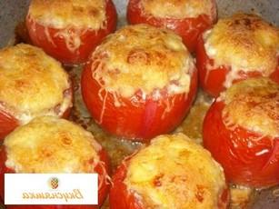 Баклажаны с помидорами и чесноком